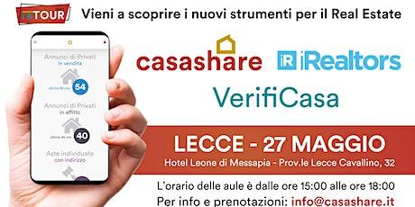 Aula formativa con Casashare, iRealtors e VerifiCasa a Lecce biglietti