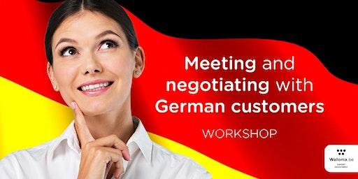 Workshop : Meeting and negotiating with German customers