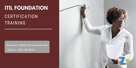 ITIL Foundation 2 days Classroom Training in Atherton,CA tickets