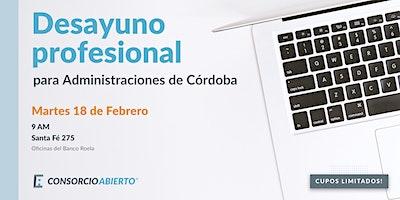 Desayuno profesional para Administraciones de Córdoba