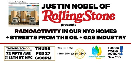 Justin Nobel investigation on radioactivity in NY Gas tickets