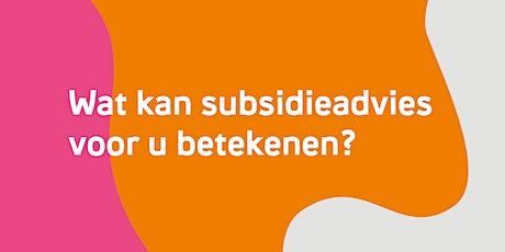 Wat kan subsidieadvies voor u betekenen? - Drongen tickets