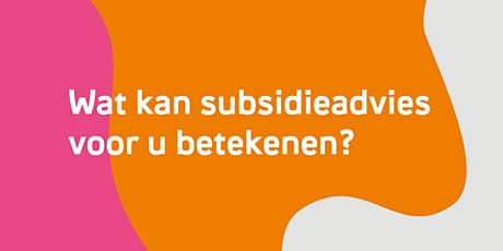 Wat kan subsidieadvies voor u betekenen? - Sint-Niklaas tickets