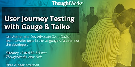 User Journey Testing with Gauge & Taiko tickets