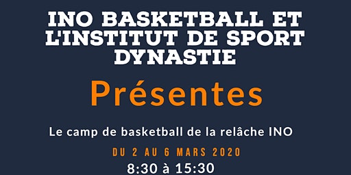 Camp de basketball de la relâche INO basketball