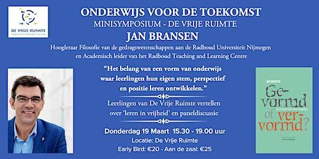 """Minisymposium: """"Onderwijs voor de toekomst"""" tickets"""