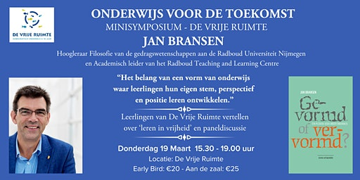 """Minisymposium: """"Onderwijs voor de toekomst"""""""