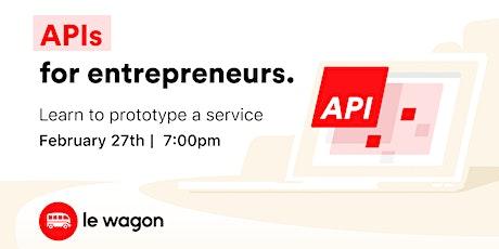 API for Entrepreneurs bilhetes