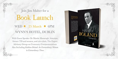 Jim Maher launches his new book, Harry Boland: A Biography