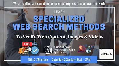 Specialized Web Search & Web Content Verification tickets