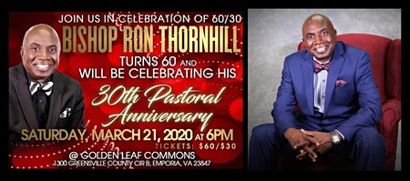 Bishop Ronald Thornhill's 60/30 Celebration