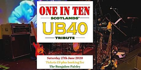 ONE IN TEN UB40 - Tribute  tickets