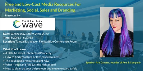 Free and Low-Cost Media Resources For Marketing, Social, Sales and Branding tickets