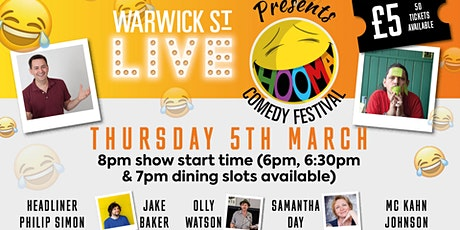Warwick St Live presents Hooma Comedy Festival Norwich (Thursday 5th March) tickets