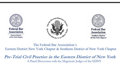 Civil Practice in the EDNY: A Panel Discussion with the Magistrate Judges tickets