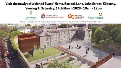 V1: Visit the newly refurbished Evans' Home at Barrack Lane, John Street tickets