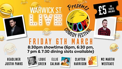 Warwick St Live presents Hooma Comedy Festival Norwich (Friday 6th March) tickets