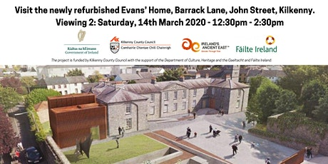V2: Visit the newly refurbished Evans' Home, Barrack Lane, John Street, KK tickets
