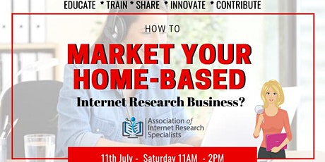 How to Market Your Home-Based Internet Research Business? tickets