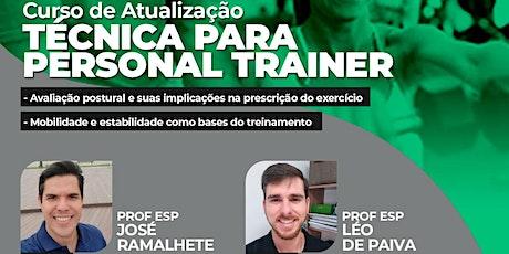 Curso de Atualização Técnica para Personal Trainer ingressos