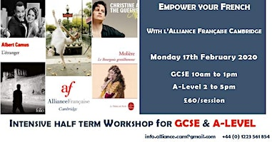 Intensive half term workshop for GCSE and A-Level