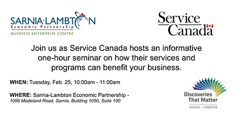 Service Canada - How They Can Help Your Business tickets