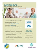 Algoma LTC Fall Prevention Event for LTC Providers in the North East