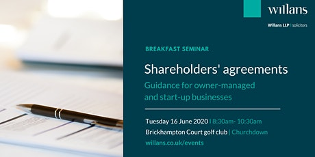 Breakfast briefing: Shareholders' agreements for owner-managed and start-up businesses tickets