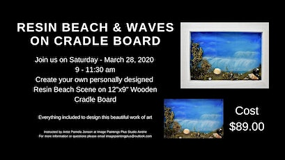 Beach and Waves Resin Art Workshop tickets