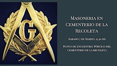 Masonería en el Cementerio de La Recoleta entradas