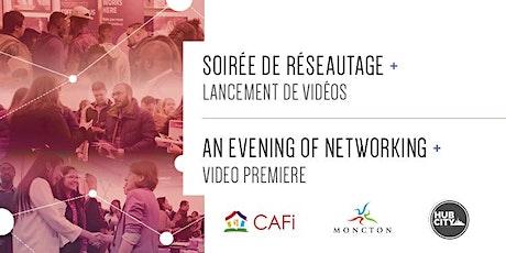 Lancement de vidéos et activité de réseautage / Video Launch and Networking Activity billets