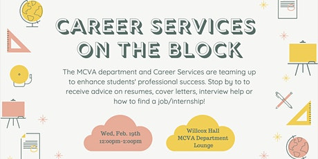Career Services on the Block tickets