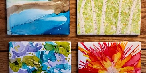 Beginner Alcohol Ink Painting Class