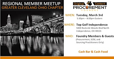 Greater Cleveland Ohio,  Member Meetup March 2020