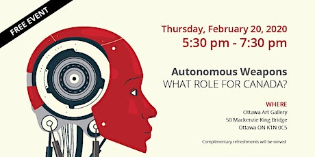 Autonomous Weapons: What role for Canada? tickets