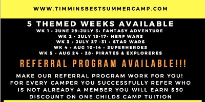 Timmins BEST Summer Camp - Week 5: Pirates and Explorers Week!