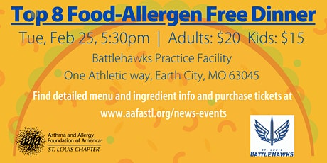 Top-8 Allergen-Free Dinner with the XFL St. Louis Battlehawks tickets