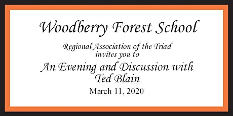 Woodberry Triad Association - An Evening with Ted Blain tickets
