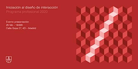 Evento presentación del Programa de Iniciación al Diseño de Interacción entradas