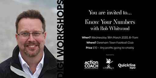 Know your numbers with Rob Whitwood