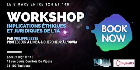 3ème Workshop - Implications éthiques et juridiques de l'IA billets