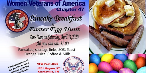 Women Veterans of America Ch 47 Pancake Breakfast and Easter Egg Hunt