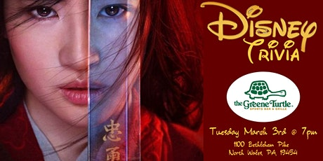 Disney Movie Trivia at The Greene Turtle North Wales tickets