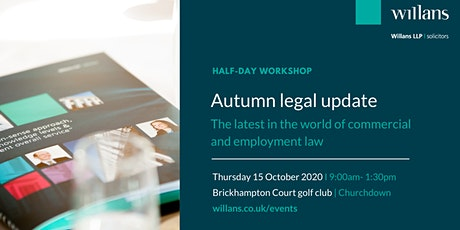 Autumn commercial and employment law update tickets