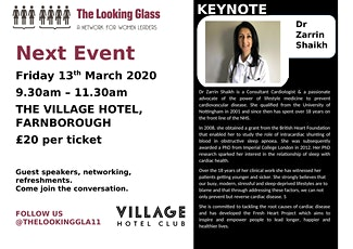 The Looking Glass with Dr Zarrin Shaikh. Topic: Healthy Hearts for Busy Women!  tickets