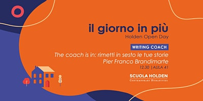 [Rinviato] Holden Open Day | The Coach is in |  SlotB1