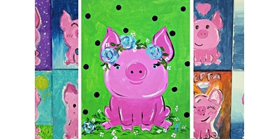 Family Night Paint: Little Pig (02-18-2020 starts at 6:00 PM)