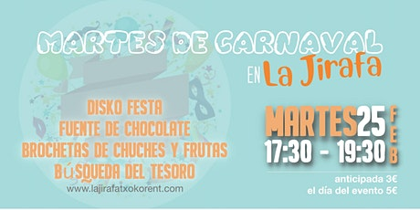 Martes de Carnaval en La Jirafa entradas
