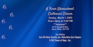 Delta Beta Zeta and DBZ Doves of Hope, Inc. Finer Womanhood Dinner