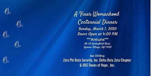 Delta Beta Zeta and DBZ Doves of Hope, Inc. Finer Womanhood Dinner